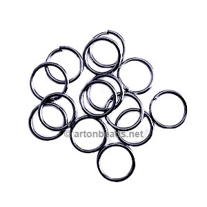 Jump Ring - Gun Metal Plated - 1.2x12mm - 50pcs