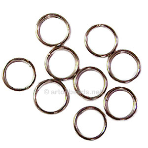 Split Ring - White Gold Plated - 10mm - 50pcs