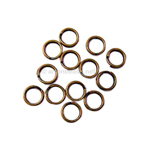 Split Ring - Antique Brass Plated - 5mm - 100pcs