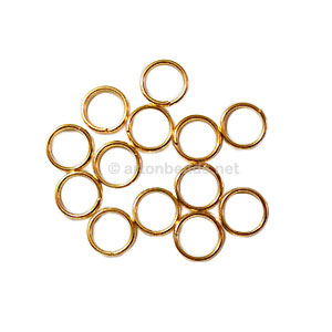 Split Ring - 18K Gold Plated - 5mm - 100pcs