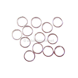 Split Ring - 925 Silver Plated - 5mm - 100pcs