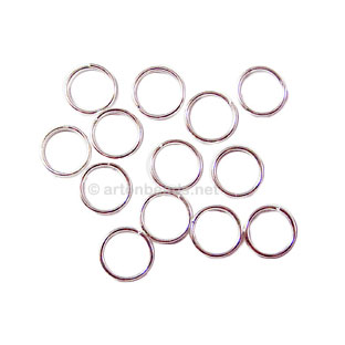 Split Ring - 925 Silver Plated - 6mm - 100pcs
