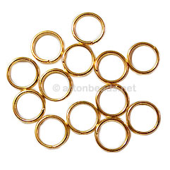 Split Ring - 18K Gold Plated - 8mm - 100pcs