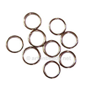 Split Ring - White Gold Plated - 8mm - 100pcs
