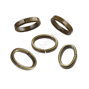 Oval Jump Ring - Antique Brass Plated - 7x10/2x1mm - 30pcs