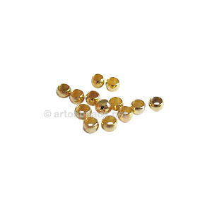 Crimps - 18K Gold Plated - 2mm - 400pcs
