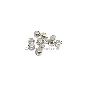 Crimps - 925 Silver Plated - 2.5mm - 500pcs