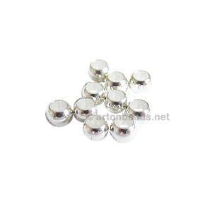 Crimps - 925 Silver Plated - 4mm - 100pcs
