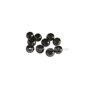 Crimps - Gun Metal Plated - 3mm - 85pcs