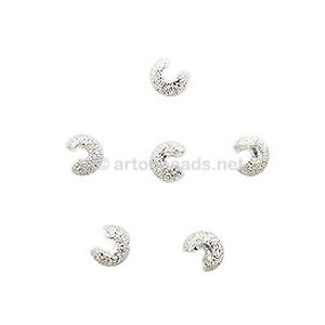 Star-Dust Crimp Cover - 925 Silver Plated - 4mm - 25pcs