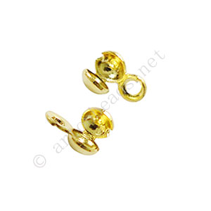 Knot Cover - 18k Gold Plated - 3.2mm - 50pcs