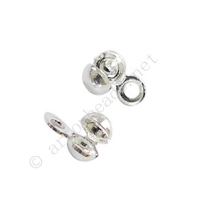 Knot Cover - 925 Silver Plated - 3.2mm - 80pcs