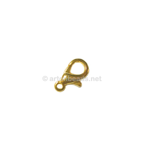 Lobster Clasp - 18k Gold Plated - 10mm - 100pcs