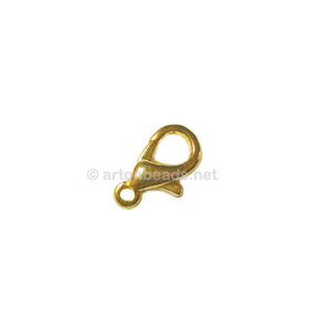Lobster Clasp - 18k Gold Plated - 12mm - 10pcs
