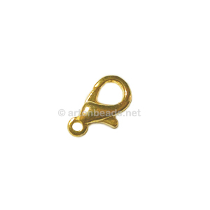 Lobster Clasp - 18k Gold Plated - 15mm - 100pcs