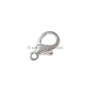Lobster Clasp - 925 Silver Plated - 15mm - 10pcs