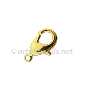 *Brass Base Lobster Clasp - 18k Gold Plated - 18mm - 6pcs