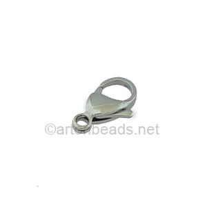 Lobster Clasp - Stainless Steel - 13mm - 6pcs