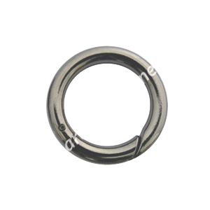 *Round Shape Spring Ring Clasp - Gun Metal Plated - 25mm - 4pcs