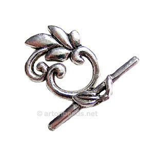 Toggle Clasp - Antique silver plated - 19.6x24mm - 4Sets