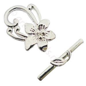 *Toggle Clasp - 925 Silver Plated - 29.4x20.5mm - 3 Sets