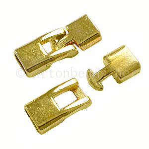 Glue End Clasp - 18k Gold Plated - ID 3.5x6.7mm - 2 Sets