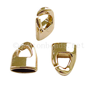 Glue End Clasp - 18k Gold Plated - ID 3x11mm - 6pcs