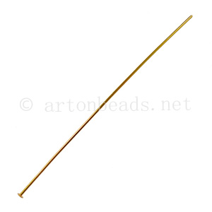 Head Pin - 18k Gold Plated - 75mm - 20pcs