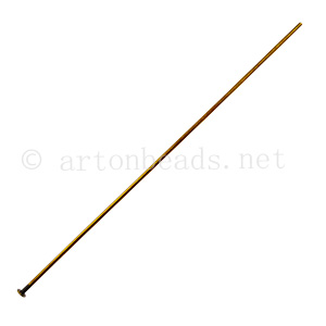 Head Pin - Antique Brass Plated - 75mm - 40pcs