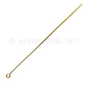 Eye Pin - 18k Gold Plated - 75mm - 25pcs