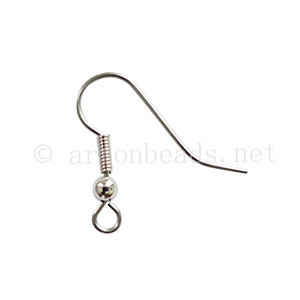 Earring Hook - Surgical Steel - 21.5mm - 40pcs