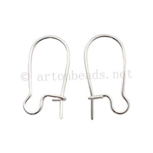 Earring Hook - 925 Silver Plated - 20mm - 50pcs
