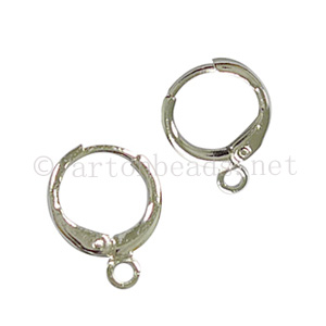 Earring Leverback - White Gold Plated - 11mm - 20pcs