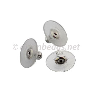 Earring Back Disc - 11.4mm - 50pcs