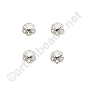 Bead Cap - 925 Silver Plated - 5mm - 50pcs