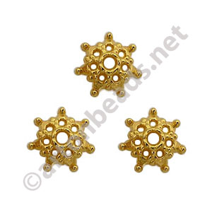 Bead Cap - 18k Gold Plated - 3.2x9mm - 50pcs