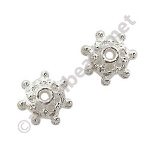 Bead Cap - 925 Silver Plated - 3.2x9mm - 50pcs