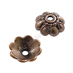 Bead Cap - Antique Copper Plated - 3.5x10mm - 30pcs
