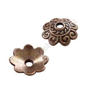 Bead Cap - Antique Copper Plated - 2.3x8mm - 50pcs