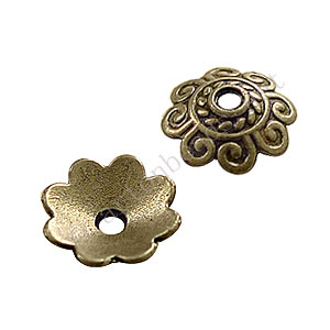 Bead Cap - Antique Brass Plated - 2.3x8mm - 50pcs