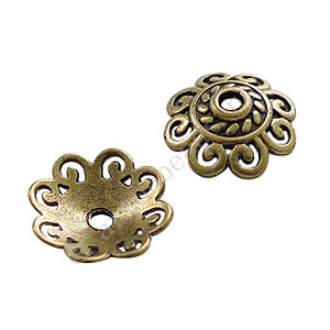 Bead Cap - Antique Brass Plated - 3.4x12mm - 40pcs