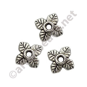 Bead Cap - Antique Silver Plated - 2x7.5mm - 70pcs