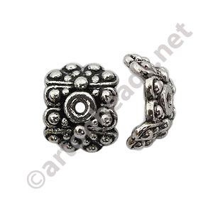 Bead Cap - Antique Silver Plated - 4.6x10.4mm - 20pcs