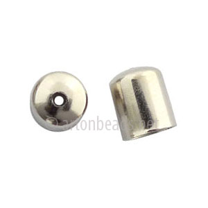 *Bell Cone With Hole - White Gold Plated - ID 5.5mm - 35pcs
