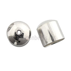 Bell Cone With Hole - 925 Silver Plated - 11mm - 10pcs
