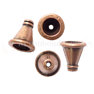 Bead Cone - Antique Copper Plated - 10.9x9.9mm - 15pcs
