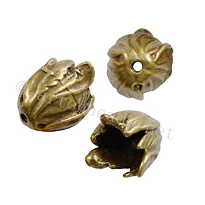 Bead Cone - Antique Brass Plated - 18x15.5mm - 2pcs