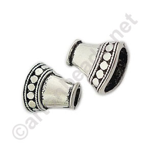 Bead Cone - Antique Silver Plated - 16.5x9mm - 6pcs