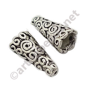 Bead Cone - Antique Silver Plated - 18x9mm - 8pcs