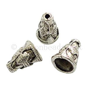 Bead Cone - Antique Silver Plated - 11.9x8.9mm - 12pcs